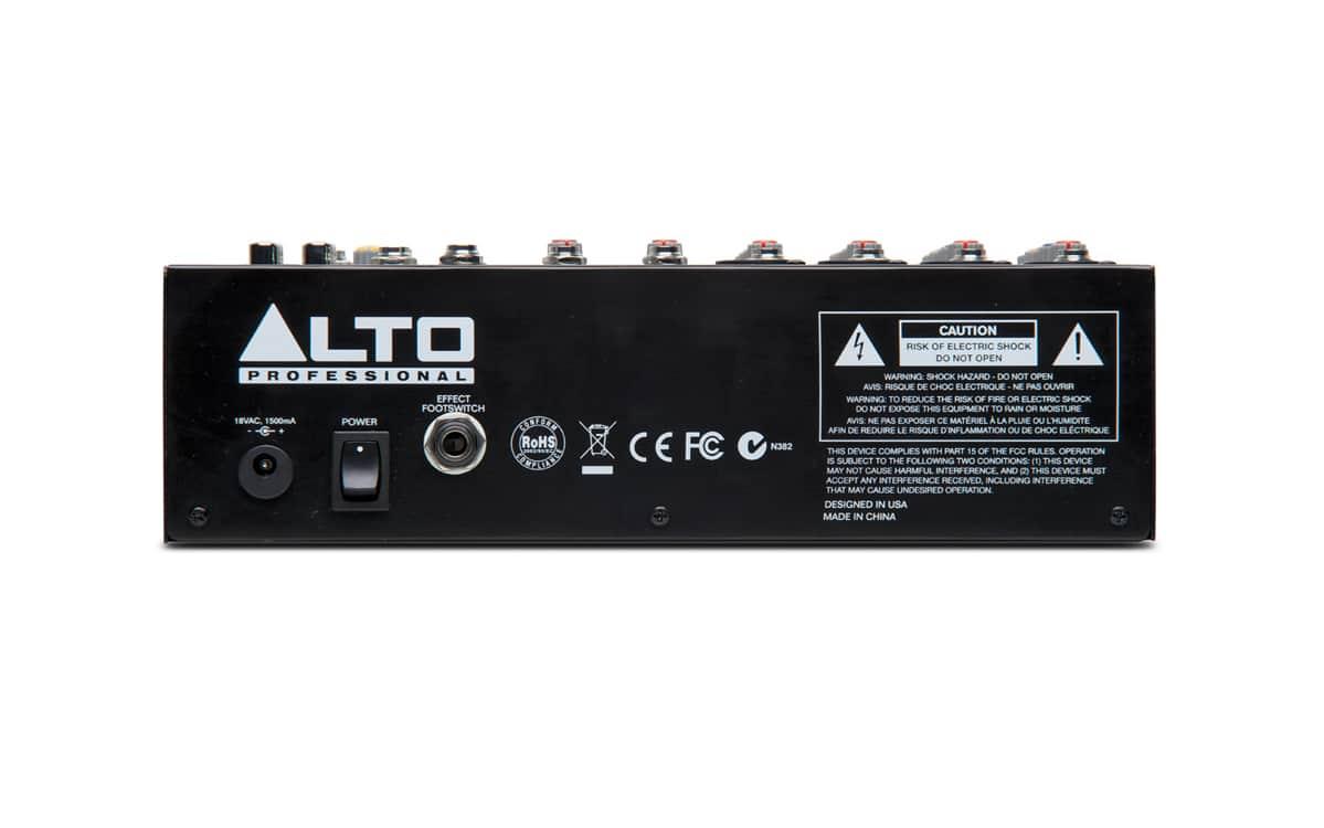 Alto Professional Zephyr ZMX122FX 8-channel Compact Mixer