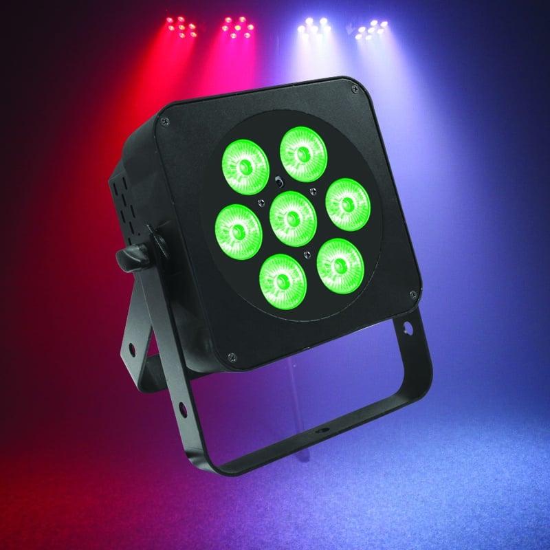 LEDJ 7Q5 RGBW Slimline Panel 7 x 5W quad-colour (black)