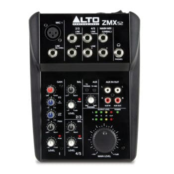 Alto ZMX 52 5 Channel Compact Mixer