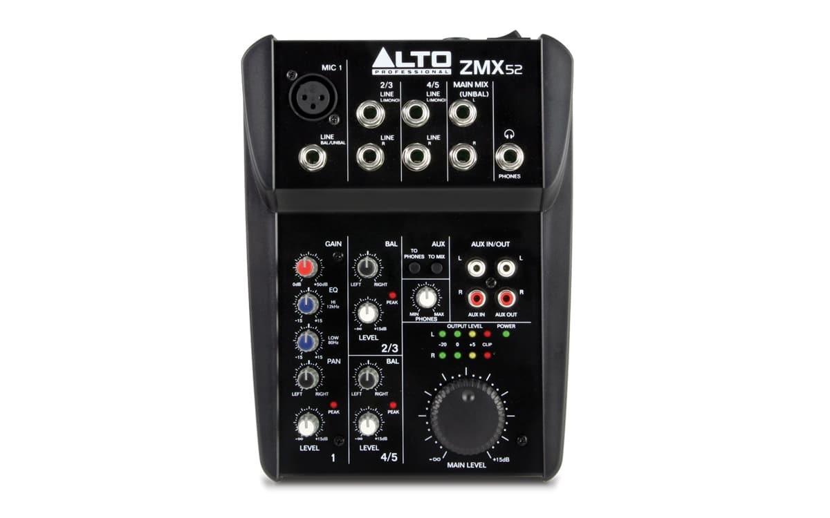 Alto ZMX 52 5 Channel Compact Mixer