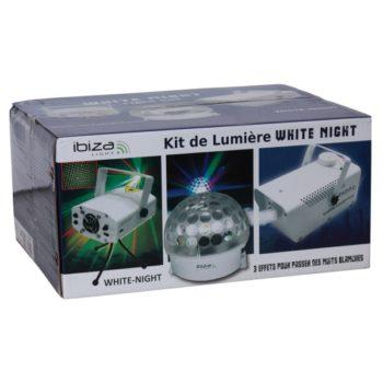 Ibiza Light White Night Laser Smoke & LED Astro Pack