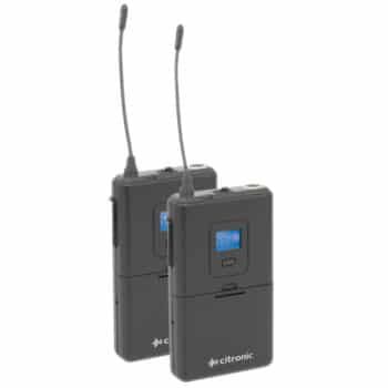 Citronic RU210-N Tuneable Dual UHF Microphone System