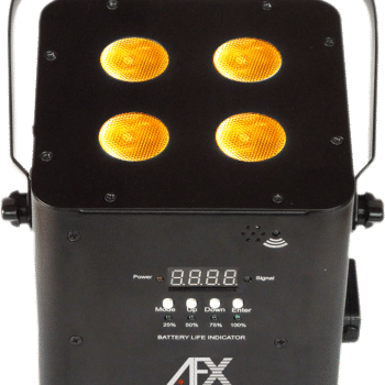 AFX Light - Free Par Hex 4x 10W 6-in-1 RGBWA-UV LED