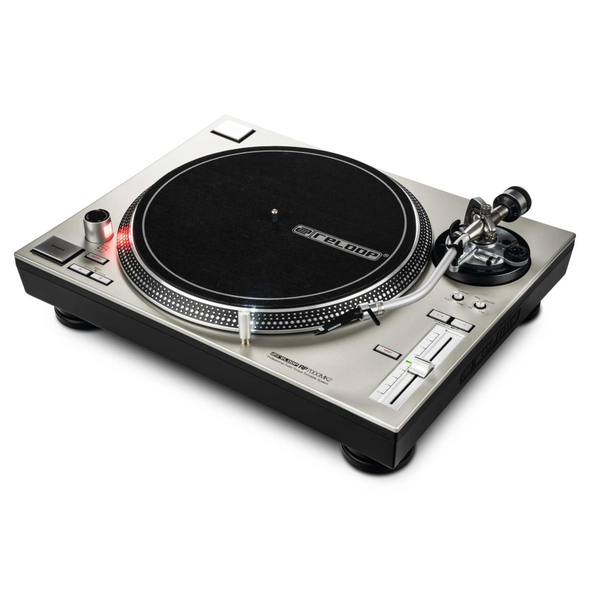 Reloop RP7000MK2 Silver Professional Upper Torque Turntable Syst