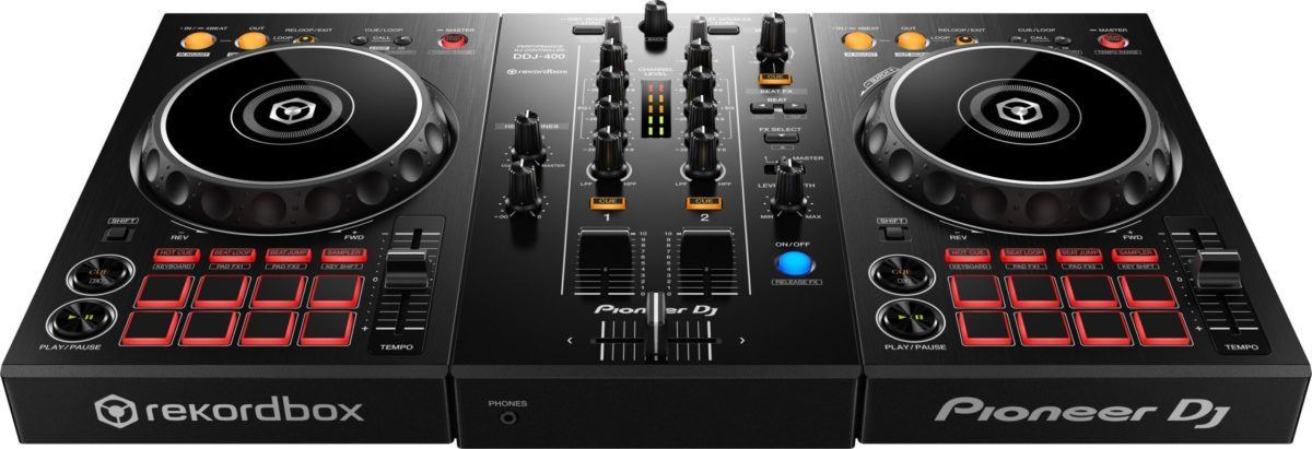 Pioneer DDJ-400 2 channel DJ controller for rekordbox dj