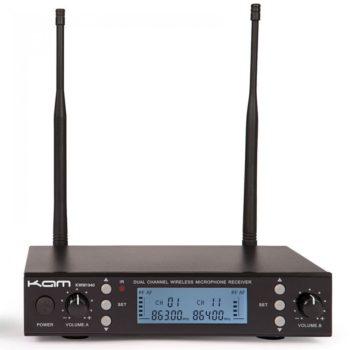 Kam KWM1940 Twin Channel Professional UHF Wireless Microphone Sy