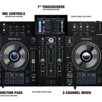 """Denon DJ Prime 2 Smart DJ Console with 7"""" Touchscreen"""