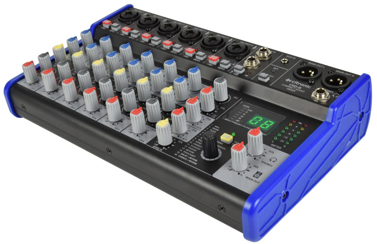 Citronic CSD-8 Compact Mixer with BT receiver + DSP Effects